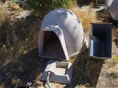 Dog House, Automatic Feeder & Waterer