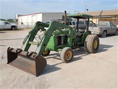 1989 John Deere 2355 2WD Tractor W/Loader