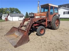 1972 International F1066 2WD Tractor W/Westendorf Loader And 7' Bucket