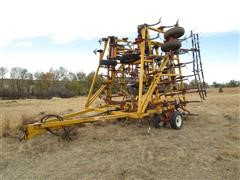 1982 Kent 6544 44' Field Cultivator W/3 Bar Harrow