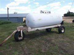 1960 Master Tank Portable 1000-Gal Anhydrous Ammonia Tank/Converted To Propane Tank