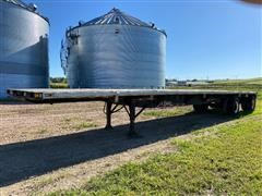 1996 Utility T/A Spread Axle Flatbed Trailer