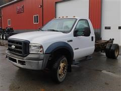 2006 Ford F450XL Super Duty 4x4 Cab And Chassis
