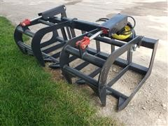 "2019 Mid States 71"" Skid Steer Brush Grapple"