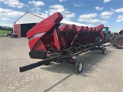 2009 Case IH 3408 30 N932 DE Corn Head w/ Trailer