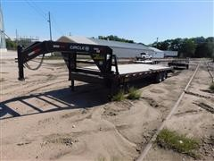 2015 Circle M Flex Control Wide Track Gooseneck Flatbed Trailer
