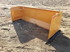 2019 Industrias America SP08 8' Wide Snow Pusher Skid Steer Attachment