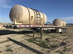 1997 East Tri/A Flatbed Trailer W/Nurse Tanks