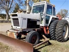 Case 1370 Agri King 2WD Tractor W/Blade
