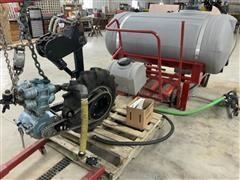 DMI Fertilizer Tank W/Ground Drive Pump & Hoses