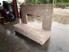 2-Piece Fireplace Display Unit
