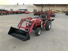2017 Mahindra MAX 26H MFWD Compact Utility Tractor W/Backhoe & Loader