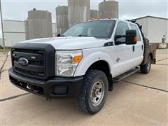 2015 Ford F350 Super Duty 4x4 Crew Cab Flatbed Pickup