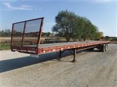 1981 Hobbs 48' Flatbed Trailer W/6' Hay Extension