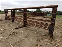 Heavy Duty 24' Portable Freestanding Livestock Panels