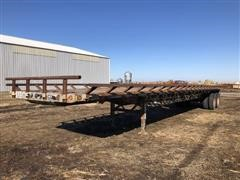 1987 Transcraft T/A Flatbed Trailer W/Hay Racks