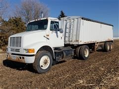 1990 International Series 8100 Truck Tractor & T/A Hopper Trailer