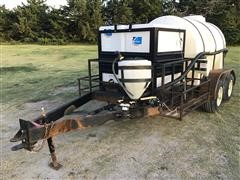 Shop Built Trailer W/Tote And Poly Tank