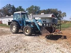 1982 Ford 7710 MFWD Tractor W/777B Quick Tach Loader