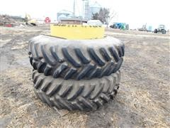 Armstrong /John Deere Clamp On 20.8R42 Dual Tractor Tires & Rims