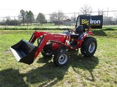 2017 Mahindra 15264FHIL MFWA Compact Utility Tractor W/Loader