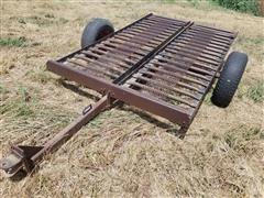 Shop Built Skid Steer Tilt-Bed Trailer