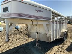 1989 Diamond D T/A Livestock Trailer