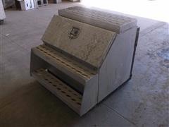 Road Gear Aluminum Frame Mount Step Tool Box