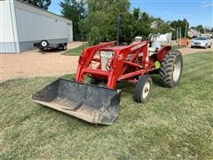 1962 International 606 2WD Tractor W/Loader, Blade, Mower, & Harrows