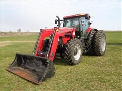 2013 Case IH Maxxum 140 Pro MFWD Tractor W/755 Loader & Quick Attached Hay Spear