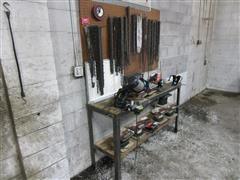 Shop Built Chain Saw And Chain Repair Station