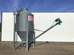 Chore-Time 3.5-Ton Feed Bulk Bin W/ Unloading Auger