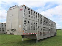 2012 Wilson PSDCL-402B T/A Aluminum Livestock Trailer