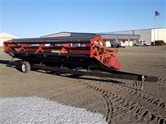 1981 Case IH 810-24 Platform Header W/Shop Made Transport