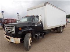 1987 GMC C7D042 S/A Diesel 22' Box Truck W/Tommy Lift