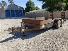 1999 Felling FH162 16' T/A Flatbed Trailer