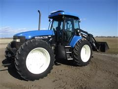 2001 New Holland TV140 4WD Bi-Directional Tractor W/7614 Loader