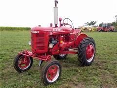 1940 International Farmall A Antique 2WD Tractor W/Plow