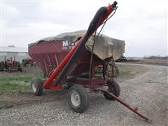 M&W Little Red Wagon Gravity Box On M&W Running Gear W/Drill Fill Auger