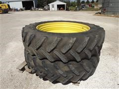 480/80R50 Goodyear Rear Tractor Tires And Dual Wheels