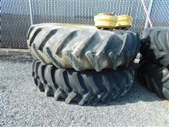 18.4-38 Tires & Rims, 10 Bolt Hubs