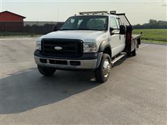 2007 Ford F450 XL Super Duty 2WD Crew Cab Flatbed Service Truck