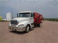 2005 Freightliner Columbia 120 S/A Feed Mixer Truck W/Gehl 5575 Auger