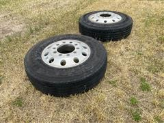 275/80R22.5 Steering Tires & Aluminum Rims