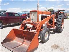 1967 International 656 Gas 2WD Tractor W/Loader