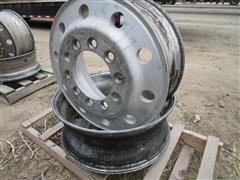 24.5 X 8.25 Stud Pilot (Budd) Aluminum Truck Rims