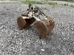Baltrotors 1/3 Yard Excavator Rotating Clam Bucket