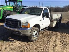 1999 Ford F450 4x4 Flatbed Pickup