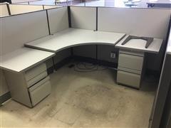 Office Cubicles W/Desks & File Cabinets