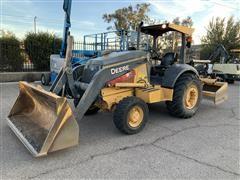 2014 John Deere 210K EP 4x4 Landscape Tractor W/Loader & Box Blade